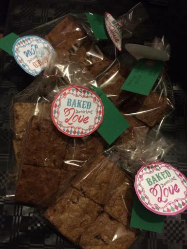 Brownies packed