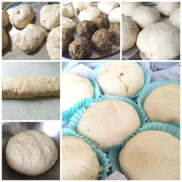 steamed buns collage